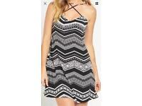 V By Very Swing Jersey Dress - Monochrome. Size 12