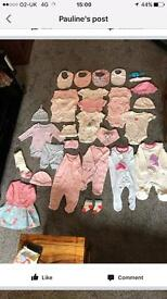 Baby Girl clothes, new born