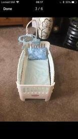 Baby Annabelle brother cot & musical Mobil