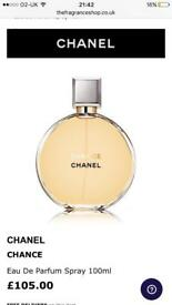 Chanel Chance perfume 100ml cost £105