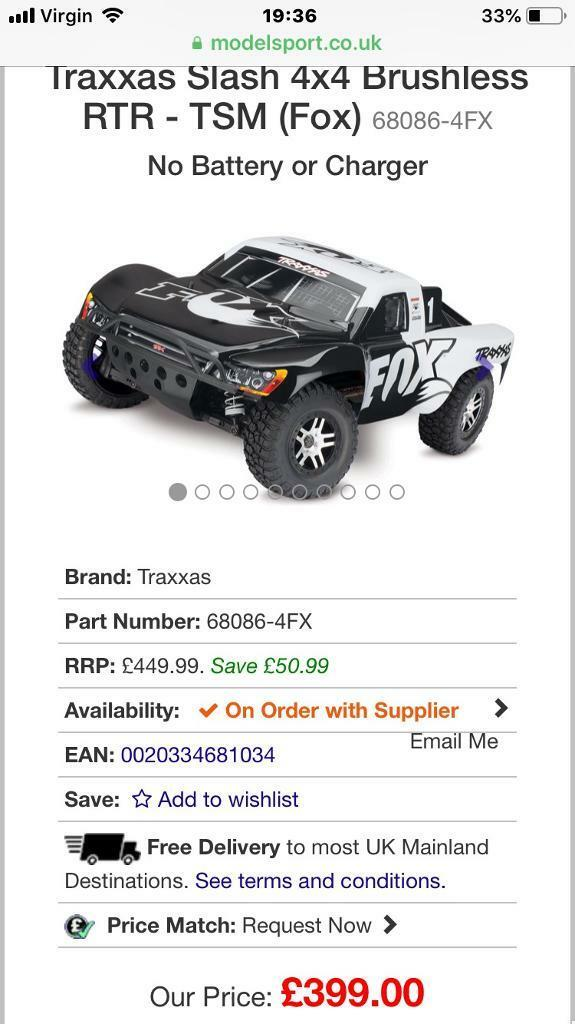 2 month old Traxxas slash 4x4 vxl with upgrades | in Chigwell, Essex |  Gumtree