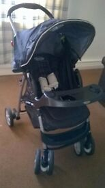 Greco pushchair with car seat and attachment