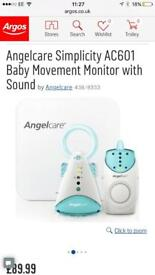 brand new in box angel care baby movement monitor with sound