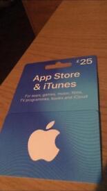 iTunes £25 gift card UNUSED