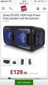 Sharp party speaker system