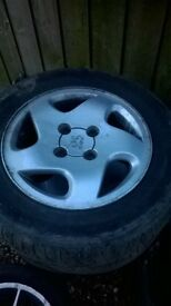 "Peugeot 14"" alloy wheels"