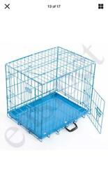 "Top Quality 24"" Foldable BLUE Dog/Puppy Crate (new in box)"