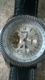 Breitling auto wind moonphase repro watch