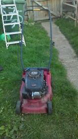 working petrol lawnmower