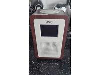 JVC RA-D57 DAB Radio - Cream and Brown