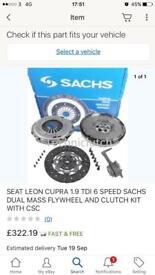 Seat leon 2004 FR TDI 150bhp clutch fkywheel kit