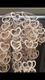 Heart Chandelier Light for bedroom