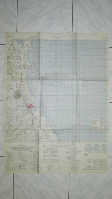 TUY HOA AIR BASE Vietnam map Tactical Fighter AHC USAF 6835 II