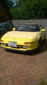 Toyota Mr2 T Bar roof off for the summer