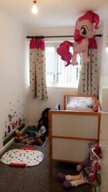 Kids room curtain bed and mattress