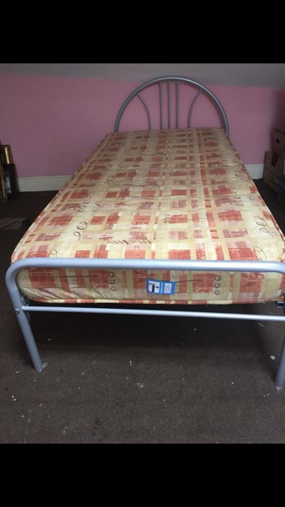 Metal Single Bed Frame Mattress For Sale 76 Inches Long X 36 Inches