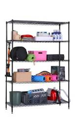 Heavy duty metal shelving unit