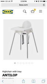 IKEA Antilop White High Chair