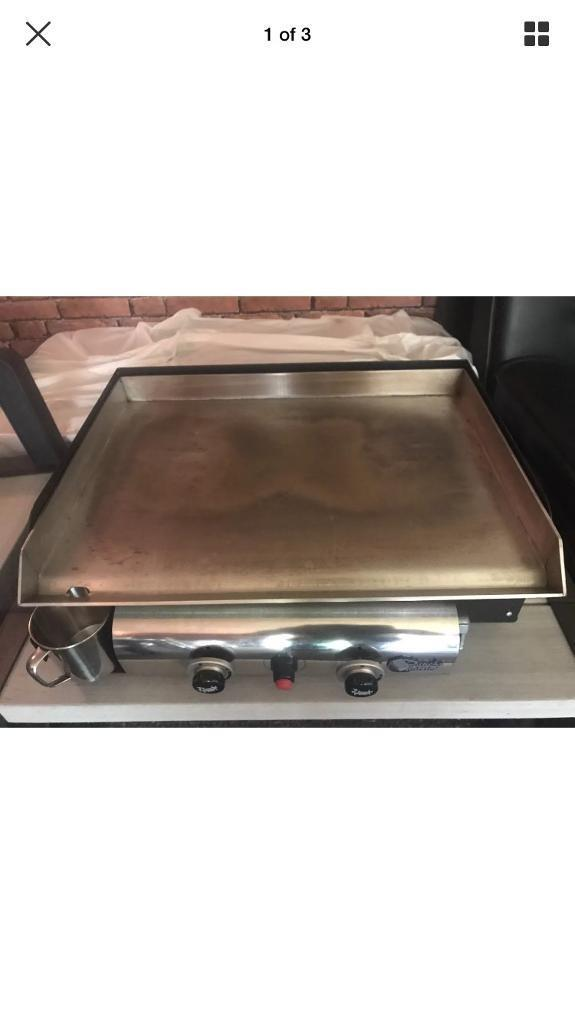 Plancha Tonio 2 Burner Gas Plancha Griddle Heavy Duty Bbq Grill