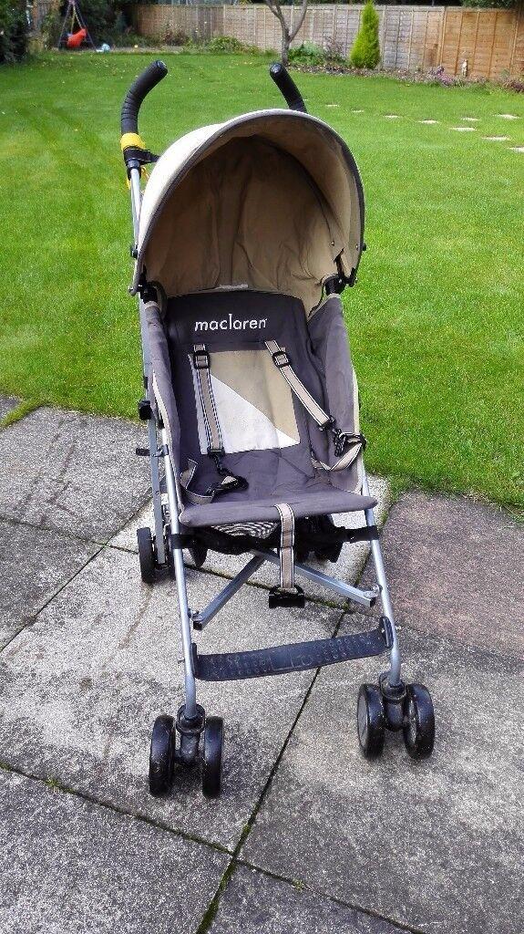 Maclaren Triumph pushchair buggy with rain cover