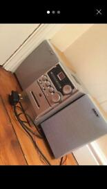 Sony CD & Tape Player w/ Speakers