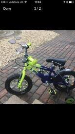 Kids 12 inch Raleigh football bike