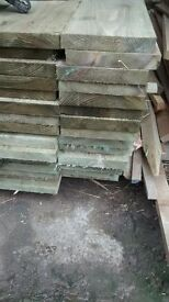 300mmx50mmx2.4m brand new treated timber raised beds/steps