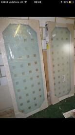 Shower door and side panel to fit base 800x800