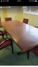 Conference table and six chairs