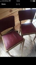 Two retro chairs
