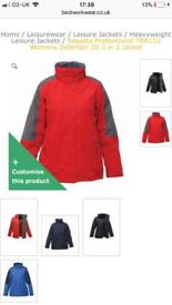 3 in 1 regatta defender jacket (size m and s available)