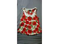 Red poppy top