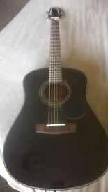 Black beauty Acoustic guitar made by Samick in (indonesia)