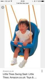 Toddler seat for swing