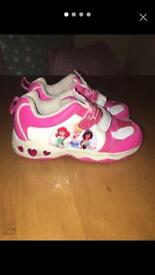 Girls light up princess shoes size 8