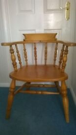 Captains / Bankers ? chair All Wood Frame Carver ? Good condition. Over 50 years old ?