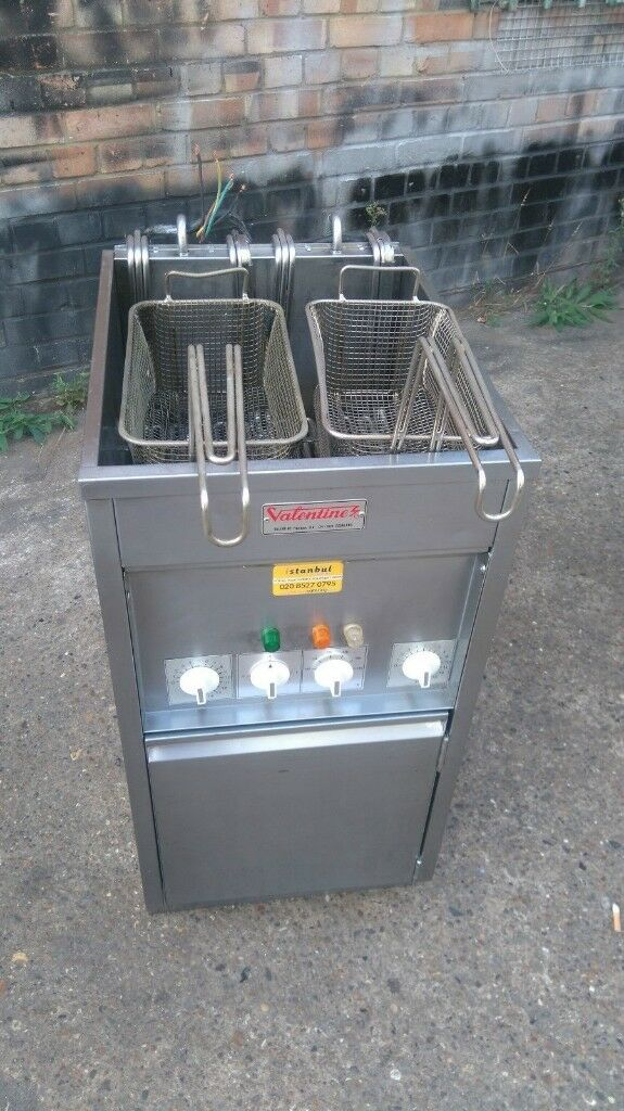 Best Fryer Commercial Equipment Valentine Double Tank