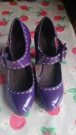 Ladies Kurt Geiger purple shoes size 37 (4)