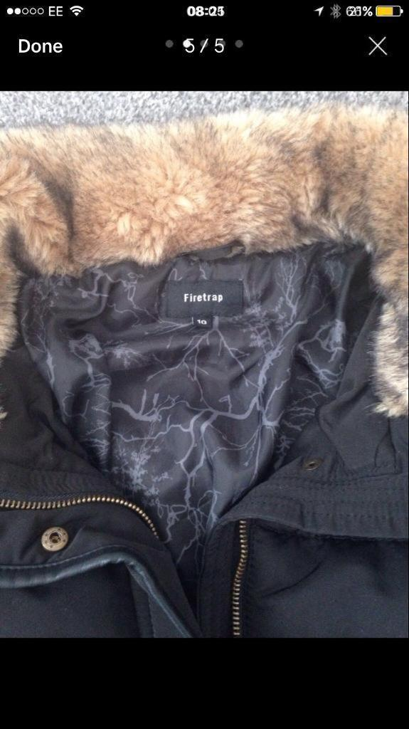 Firetrap Coat size 10