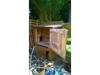 chicken coop and duck house