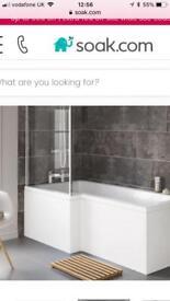 Left hand bath / bath side panel / bath screen