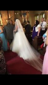 Floor length veil