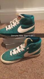 Nike size 4. (Turquoise/green mid tops)