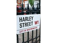 Full-time qualified dental nurse/receptionist required for Harley Street dental practice