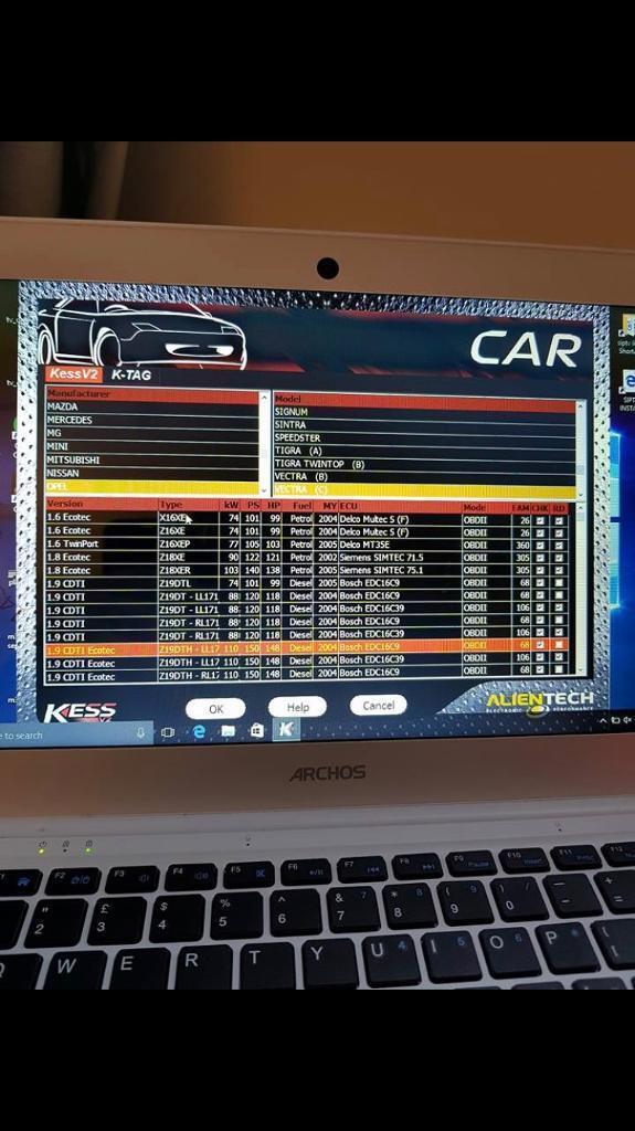 Car remapp kess v2