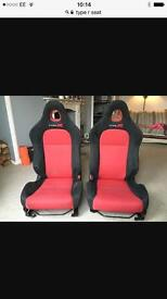 Wanted mint condition ep3 Type r red drivers seat