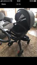 Stokke xplory v4 true black limited edition everything included!