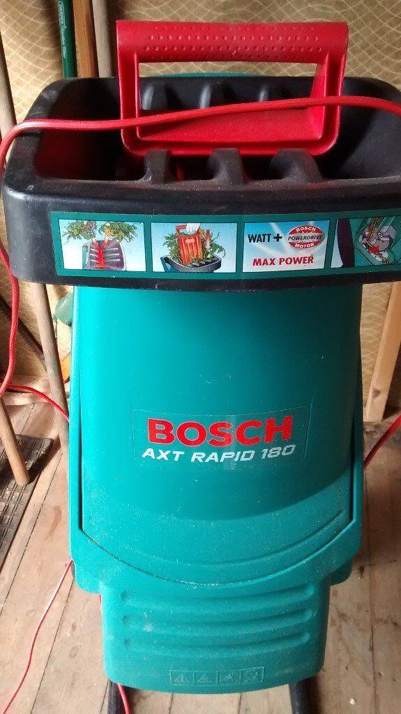 bosch axt rapid 180 garden shredder in woodbury devon. Black Bedroom Furniture Sets. Home Design Ideas