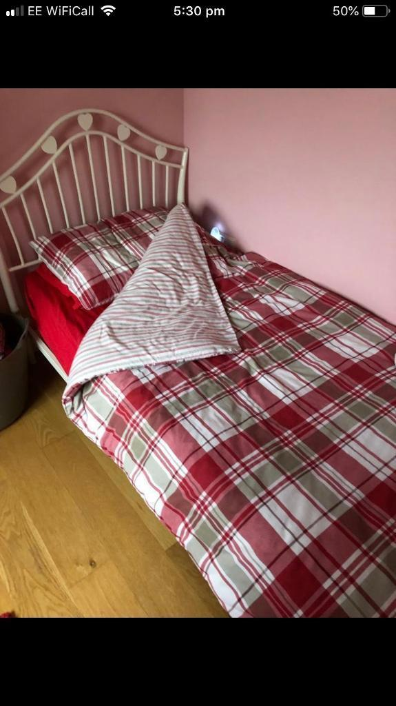 Red Bedding Curtains And Free Rug In Caerphilly Gumtree