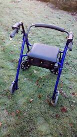 Days Four Wheel Rollator Walker - Blue - less than 12 months' old